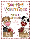 Sorting Valentines:  Parts of Speech Center Activity and B