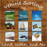 Sorting Vehicles by Land, Water or Air - Sorting Activity