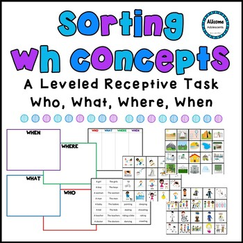 Sorting WH Concepts Language Task (Autism/Sped/Elementary)
