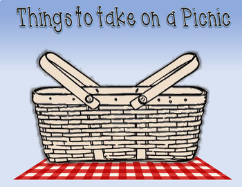 Sorting- We're Going on a Picnic