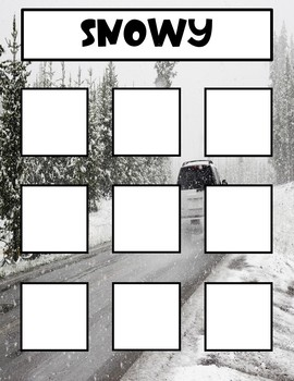 Sorting Weather Items Book/File Folder Activities- Sped, Autism, Elementary