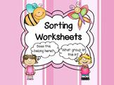 Sorting Worksheets