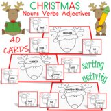 Nouns, Verbs, and Adjectives Christmas Themed Center Activity
