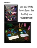 Sorting and Classification Cut and Paste Worksheets for Pr