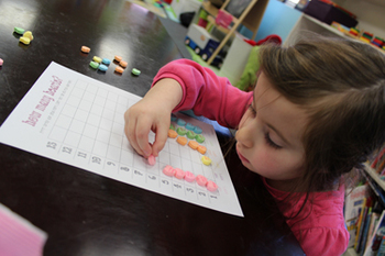 Sorting and Counting with Conversation Hearts -Valentine's Activity