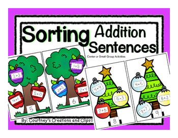 Sorting and Recording Addition Sentences