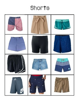 Sorting between shorts and pants-File Folder