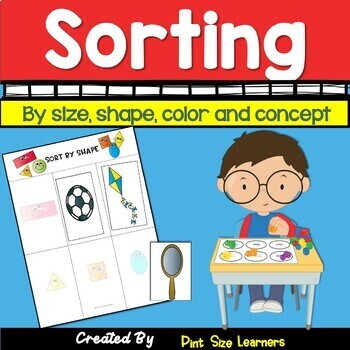 Sorting by Attributes Center Activities and Worksheets