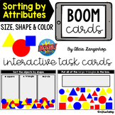 Sorting by Attributes: Size, Shape, Color   Digital BOOM Cards™