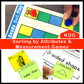 Sorting by Attributes and Measurement Games and Centers Kindergarten
