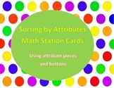 Sorting by Attributes - pieces and buttons cards