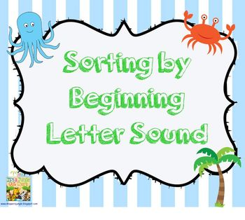 Sorting by Beginning Letter Sound: SMART board activity