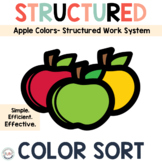 Sorting by Color Task Boxes for Preschool and Special Educ