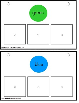 Sorting by Color with Pictures {Pre-K, Kindergarten, & Special Education}