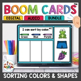 Sorting by Colors and Shapes Boom Cards