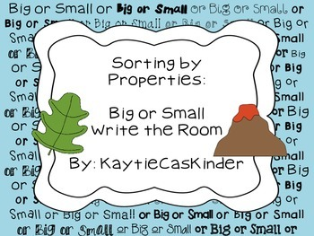 Sorting by Properties: Big or Small: Write the Room