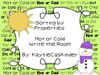 Sorting by Properties: Hot or Cold: Write the Room
