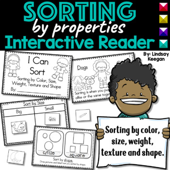 Sorting by Properties Interactive Reader- Size, Texture, Color, Shape, Weight
