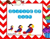Sorting by Size- Math center or small group game