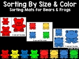 Sorting by Size and Color for Preschool - Bears and Frogs Sorting Mats