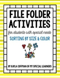 Sorting by Size and Color: File Folder Tasks for Students