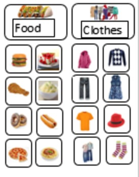Sorting by attribute game (great for ABA, autism, or anyon