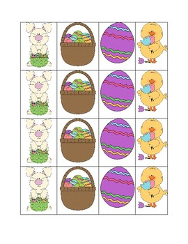 Sorting by big and small Easter