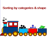 Sorting by shape and category (transportation theme)