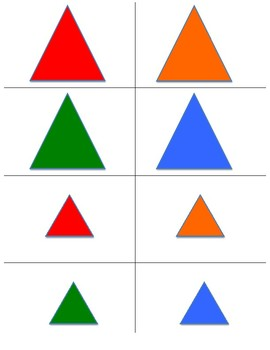 Sorting by size, shape, and color