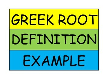 Sorting for Greek Roots Workstation Game or Small Group Activity