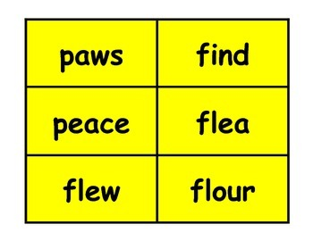 Sorting for Homophones Workstation Game or Small Group Activity