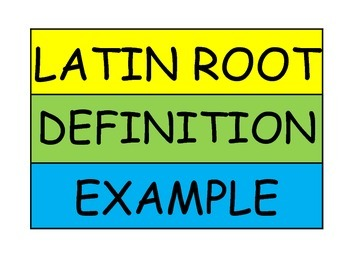 Sorting for Latin Roots Workstation Game or Small Group Activity