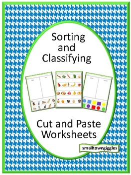 Sorting and Classifying,Special Education,Cut and Paste Activities,Summer School