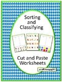 Sorting Activities Kindergarten Special Education Autism Cut and Paste