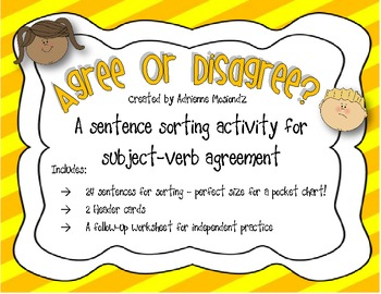 Sorting for Subject-Verb Agreement