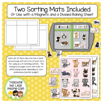 Sorting into Categories - Printables for Young Learners