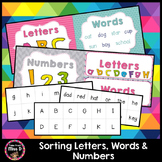 Sorting Letters, Words, Numbers, Sentences and Pictures