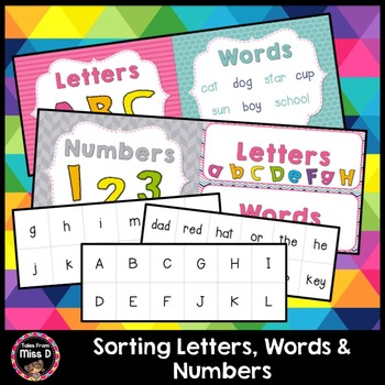 Sorting Letters, Words and Numbers
