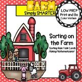 LOW PREP Farm Themed Sorting Rule Task Cards