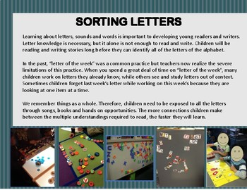 Sorting the Letters of the Alphabet