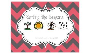 Sorting the Seasons (autism work tasks & flip book)