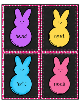 Sorting with My Peeps! Easter Long e Short e Sorting Activity