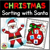 Christmas Color Sorting with Santa Activity