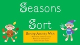 Sorting with Seasons {Word Cards, Pictures of Clothing & Months}