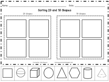 Sortng 2D and 3D Shapes
