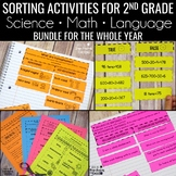 Sorts for 2nd Grade BUNDLE • Math • Language • Science