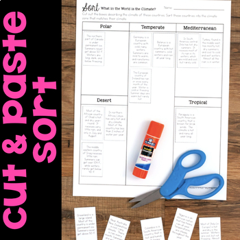 Sorts for Third Grade Science