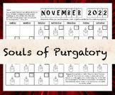 Souls of Purgatory Candle Calendar {Saint Gertrude Prayer}
