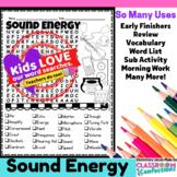 Sound Activity: Sound Word Search: Sound Vocabulary