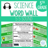 Sound: 5th Grade Science Word Wall